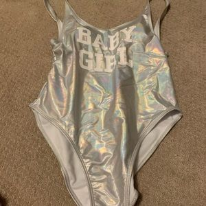 Brand New Holographic Baby Girl One Piece Swimsuit